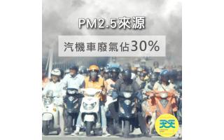 騎乘機車接觸到的PM2.5濃度是最高的,瞬間濃度甚至高達『紫爆』,機車族該怎麼保護自己的呼吸健康?天天機車族專用防護口罩